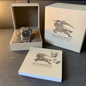 60d35d030ea2 Burberry Accessories - Burberry Large Check Black Dial 38mm Watch